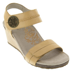 Aetrex Arielle Leather Latte Sandals