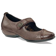 Aetrex Brianna Leather Java Shoes