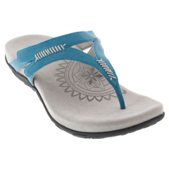 Aetrex Celia Leather Ocean Sandals