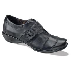 Aetrex Corinne Leather Black Shoes