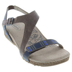 Aetrex Jenny Leather Stone Sandals