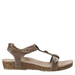 Aetrex Lori Leather Stone Sandals