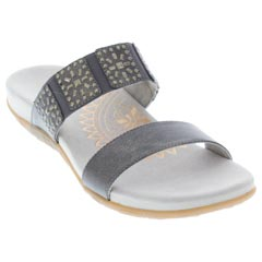 Aetrex Macy Pewter Sandals