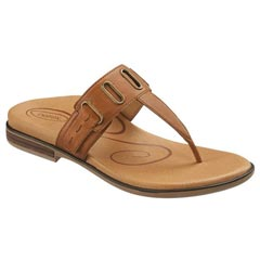 Aetrex Zara Leather Cognac Sandals