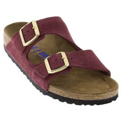 Birkenstock Arizona Suede Bordeaux Sandals