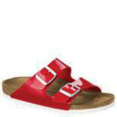 Birkenstock Arizona Patent Birko-Flor Red Sandals