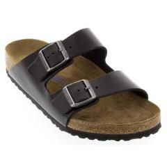 Birkenstock Arizona Leather Soft Footbed Black