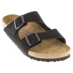 Birkenstock Arizona Suede Soft Footbed Black
