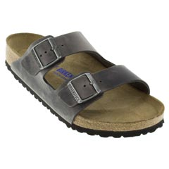 Birkenstock Arizona Leather Soft Footbed Iron