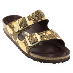 Birkenstock Arizona Leather Spotted Metallic Brown Sandals