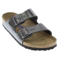 Birkenstock Arizona Leather Anthracite Sandals