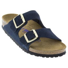 Birkenstock Arizona Suede Navy Sandals
