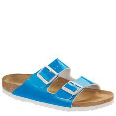 Birkenstock Arizona Patent Birko-Flor Blue Sandals