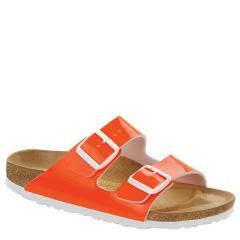 Birkenstock Arizona Patent Birko-Flor Orange Sandals
