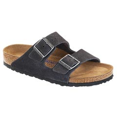 Birkenstock Arizona Suede Soft Footbed Gray