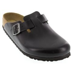 Birkenstock Boston Leather Soft Footbed Black