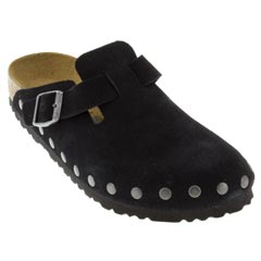 Birkenstock Boston Suede Black Clogs