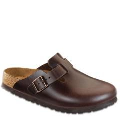 Birkenstock Boston Leather Soft Footbed Brown