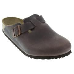 Birkenstock Boston Leather Soft Footbed Habana