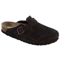 Birkenstock Boston Suede Soft Footbed Mocha