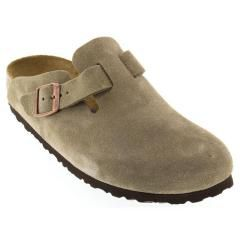 Birkenstock Boston Suede Soft Footbed Taupe