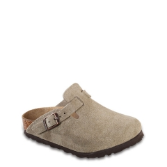 BIRKENSTOCK KIDS BOSTON SUEDE TAUPE