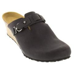 Birkenstock Dana Oiled Leather Black Clogs