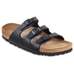 BIRKENSTOCK FLORIDA BIRK-FLOR SOFT FOOTBED BLACK