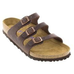 Birkenstock Florida Leather Soft Footbed Habana