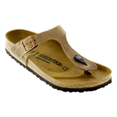 Birkenstock Gizeh Oiled Leather Tobacco Sandals