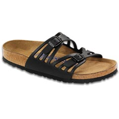 Birkenstock Granada Oiled Leather Soft Fb Black Sandals