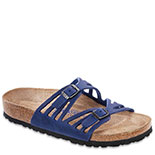 BIRKENSTOCK GRANADA LEATHER SOFT FOOTBED TWILIGHT BLUE