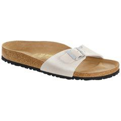 Birkenstock Madrid Birko-Flor White Sandals