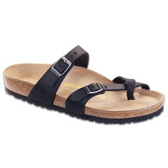Birkenstock Mayari Oiled Leather Black Sandals