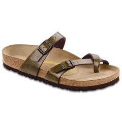 Birkenstock Mayari Birko-Flor Golden Brown Sandals