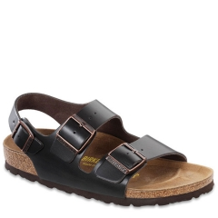 BIRKENSTOCK MILANO LEATHER HUNTER BROWN