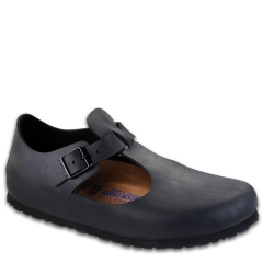 BIRKENSTOCK PARIS LEATHER SOFT FOOTBED BLACK