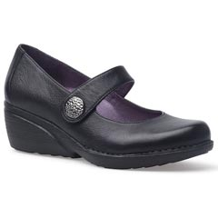 Dansko Adelle Nappa Leather Black Shoes