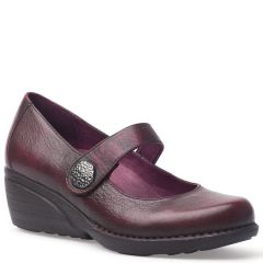 Dansko Adelle Brush Off Nappa Lth Wine Shoes