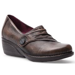 Dansko Aimee Brush Off Nappa Leather Brown Shoes