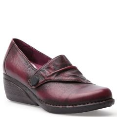 Dansko Aimee Brush Off Nappa Leather Wine Shoes