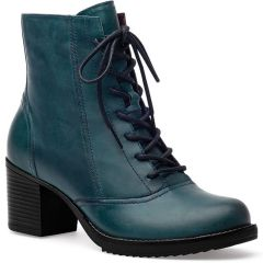 Dansko Ames Waxy Pull-Up Leather Green Boots