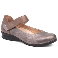 Dansko Audrey Leather Gold Shoes