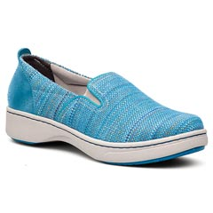 Dansko Belle Canvas Blue Shoes