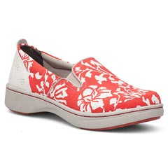 Dansko Belle Canvas Coral Shoes
