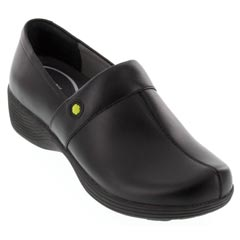 Dansko Camellia Leather Black Clogs