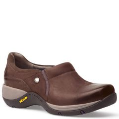 Dansko Celeste Burnished Nubuck Brown Shoes