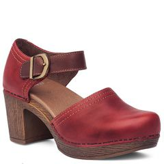 Dansko Darlene Full Grain Leather Red Shoes