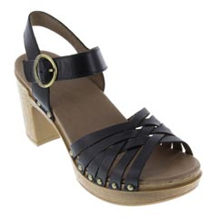 Dansko Dawson Full Grain Leather Black Sandals