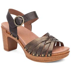 Dansko Dawson Leather Gold Sandals